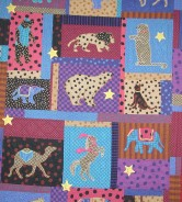 Her Circus Quilt 1992 Pattern Credit:: Critter Pattern Works