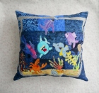 aquarium pillows fish crabs goldfish tropical fish blue seaweed